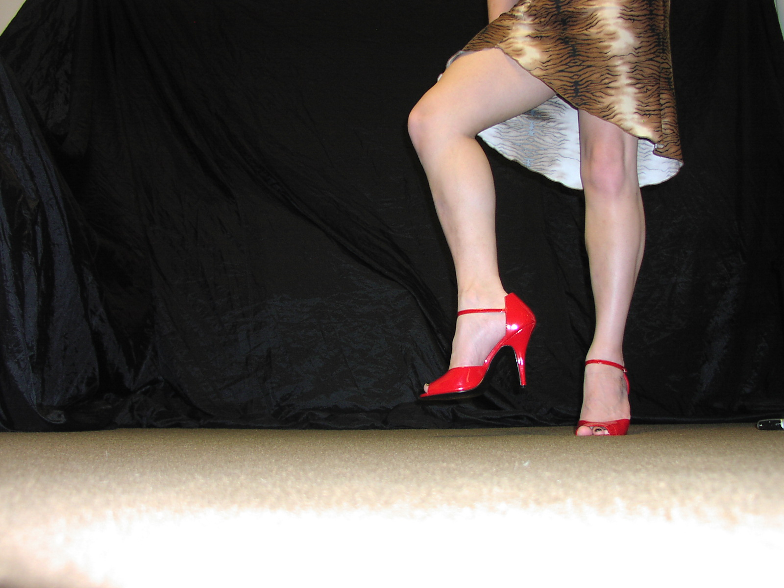 My new red heels which I love.