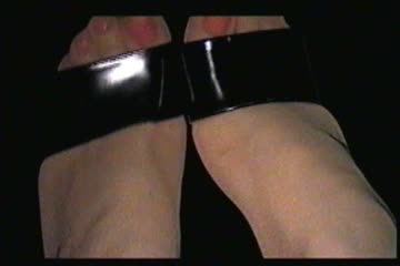 Showing off my heels and pantyhosed feet - crossdresser