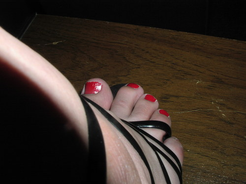 Closeup of toes