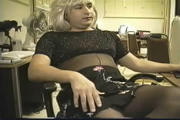 Black skirt and Black Blouse for a Transvestite